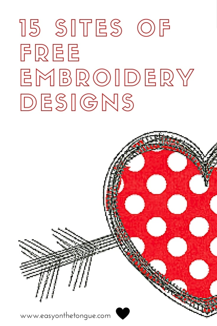 free machine embroidery designs to