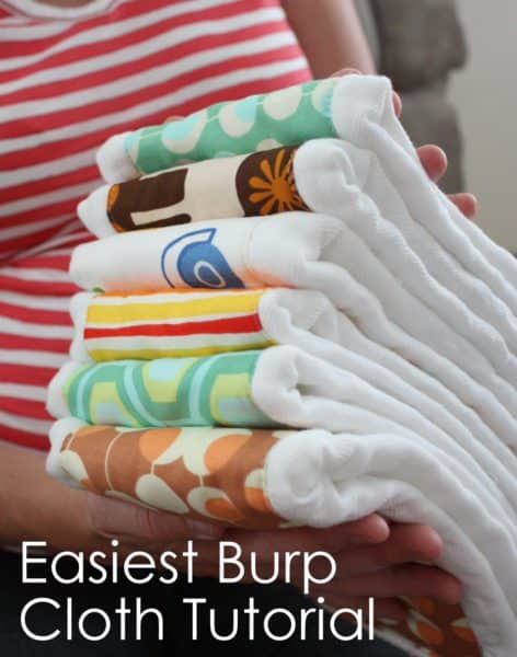 Amy at Diary of a Quilter made burp cloths with Gerber cloth diapers and cotton inserts post share on www.easyonthetongue Ideas & Patterns for Quick and Easy Baby Burp Cloths