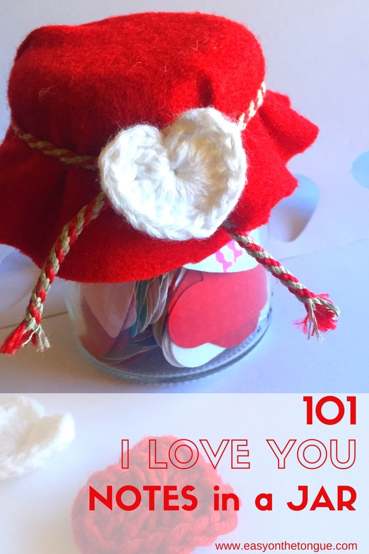 101 I Love You Notes In A Jar