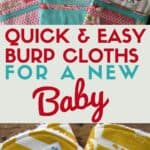 Make Quick and Easy Baby Burp Cloths with the patterns and ideas shared in this post Get all the cuteness on www.easyonthetongue.com  150x150 Ideas & Patterns for Quick and Easy Baby Burp Cloths