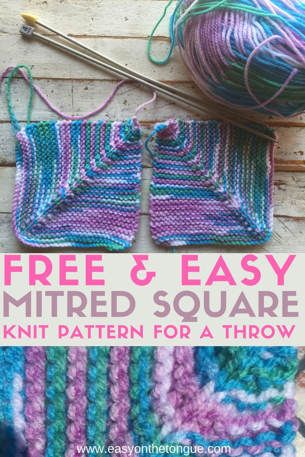 Free Easy Halloween Pop Culture: Free Easy Knit Square Pattern To Make A Quick Throw