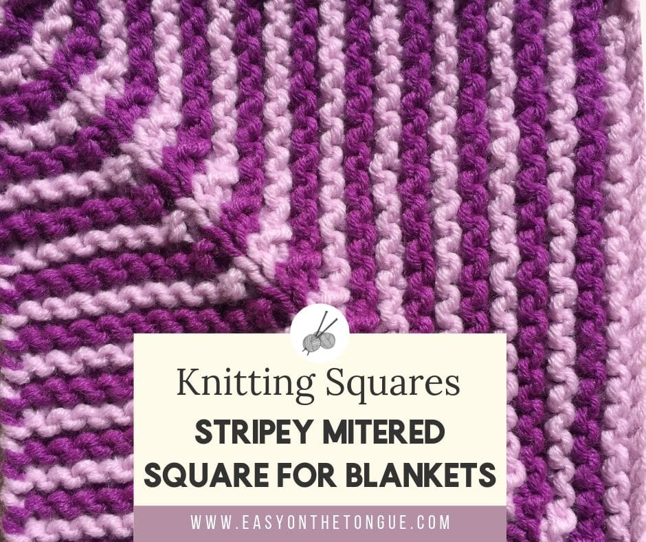 Variation on Easy & Quick Knit Square - Free Pattern