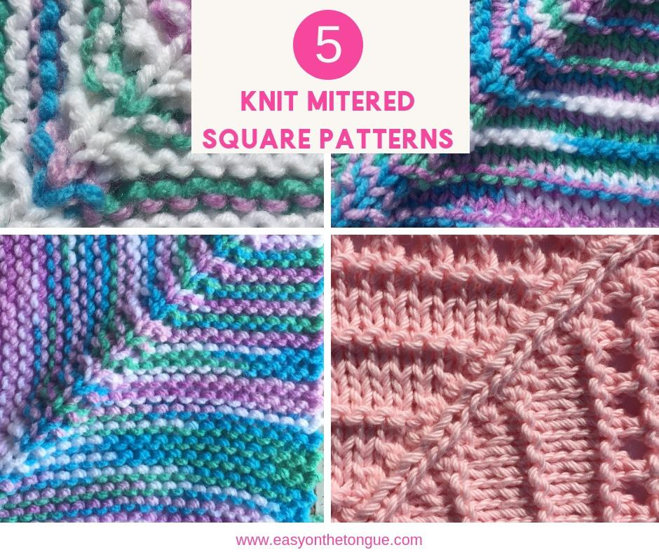 5 Knit Mitered Squares To Help You Make A Quick And Easy Throw