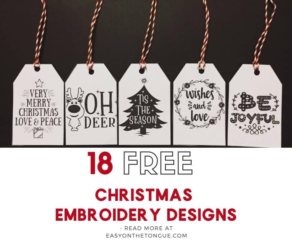 Christmas gift tags christmasgifttags christmasprintables 2 Free Printable Christmas Gift Tags