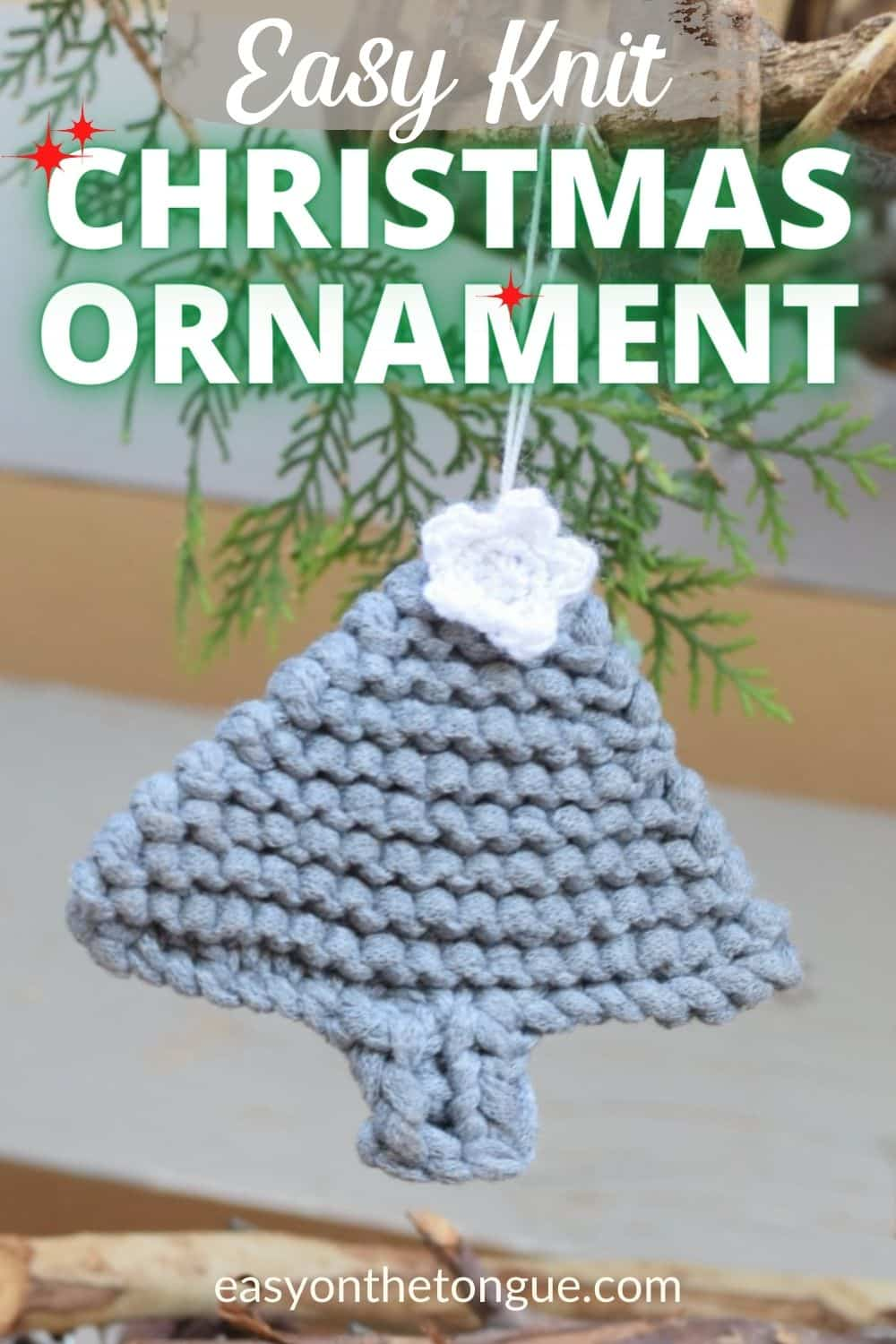 Knit A Flat Christmas Tree To Hang As An Ornament