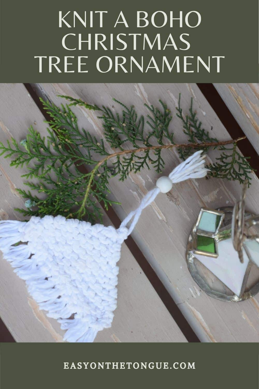 Free Knitted Boho Christmas Tree Ornament Super Easy